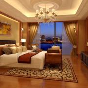 黄色温暖的卧室吊顶