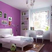 紫色清新儿童房展示