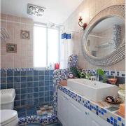 卫生间简约玻璃淋浴隔断装饰