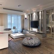 90平米简约风格房屋客厅地板装饰