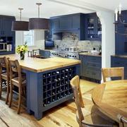 地中海风格开放式厨房吧台装饰