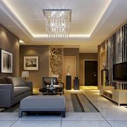 现代简约客厅吊顶装饰