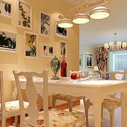 现代简约风格餐厅照片背景墙装饰