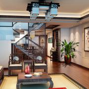后现代风格阁楼客厅电视背景墙装饰