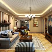 地中海客厅地板装饰