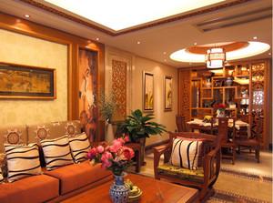 中式风格客厅博古架装饰