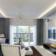 现代清新风格客厅背景墙装饰