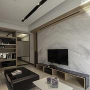 后现代风格客厅电视墙饰装饰