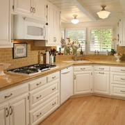 美式简约L型厨房橱柜装饰