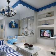 地中海风格客厅吊顶装饰