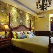 美式卧室床头背景墙装饰