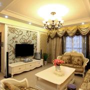 欧式奢华风格客厅飘窗装饰