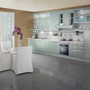 厨房浅绿色的橱柜