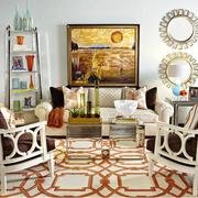 美式简约混搭风格客厅装饰