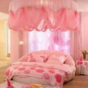 粉色系帷幕儿童房卧室装饰