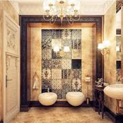 欧式风格奢华卫生间效果图