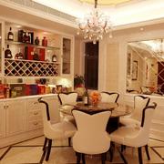 欧式风格客厅整体酒柜装饰