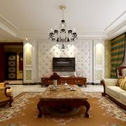欧式软包白色客厅电视背景墙装饰