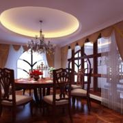 别墅奢华餐厅飘窗装饰