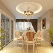 别墅简约风格厨房推拉门设计