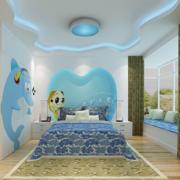 现代化卡通风格卧房背景墙装饰