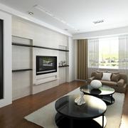 后现代风格简约客厅隐形门装饰