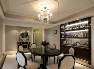 2015简约美式餐厅酒柜装修效果图