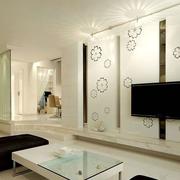 现代简约风格电视背景墙装饰