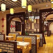 中式火锅店简约灯饰装饰