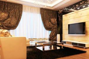 90平米巴洛克风格精致客厅装修效果图