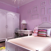 现代浅色系卧室背景墙装饰