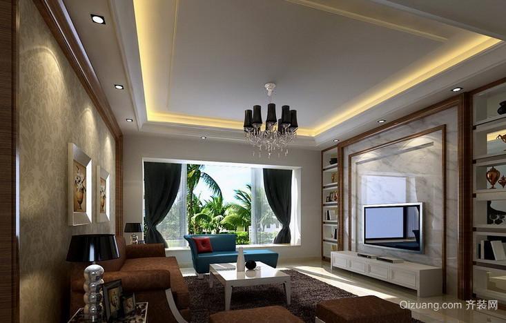欧式经典风格客厅电视墙饰装饰
