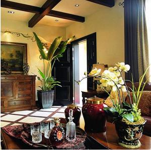 客厅原木吊顶装饰效果图