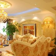欧式金色的婚房