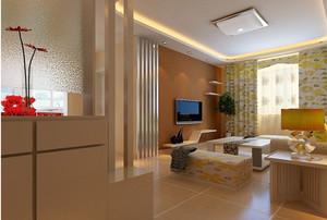 90平米现代轻松客厅进门玄关鞋柜装修效果图