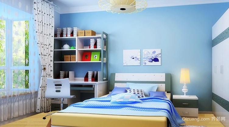 120平米地中海蓝色儿童房设计装修效果图