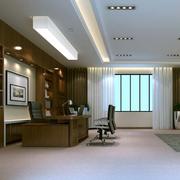 中式简约风格办公室吊顶装饰