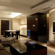 90平米房屋后现代风格客厅电视背景墙