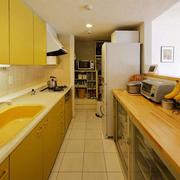 韩式清新风格一字型厨房装饰