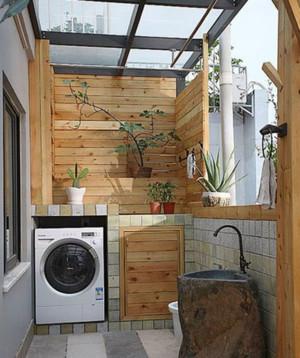 2015美式田园农村房屋阳台装修设计效果图