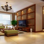 美式风格原木客厅电视背景墙装饰