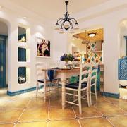 地中海风格餐厅桌椅装饰