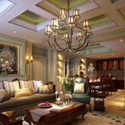 美式奢华别墅客厅