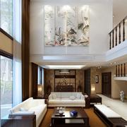 别墅中式简约风格电视背景墙装饰