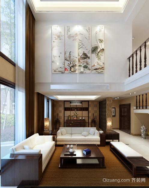 2015古典雅雅致中式客厅电视背景墙装修效果图