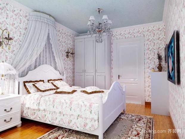 50平米小户型田园风格卧室衣柜装修效果图