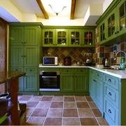 简约风格L型厨房橱柜装饰