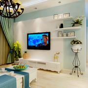 地中海客厅电视柜装饰