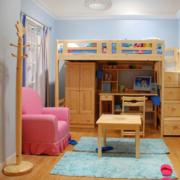 儿童房卧室实木床