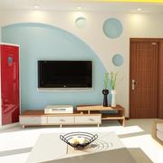 现代简约风格石膏板电视背景墙